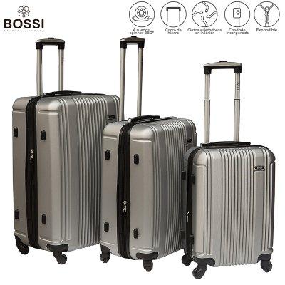 16ef6293b Set de 3 valijas rígidas ABS rayadas, varios colores | Rupless