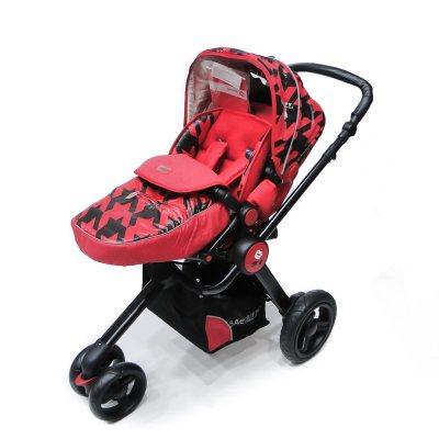 bb54cb805 Cochecito de paseo para bebés Baciuzzi 3 ruedas rojo | Rupless